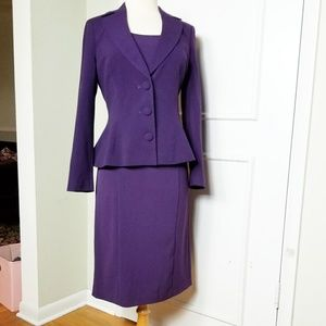 Vintage 90s does 40 pencil dress and peplum jacket